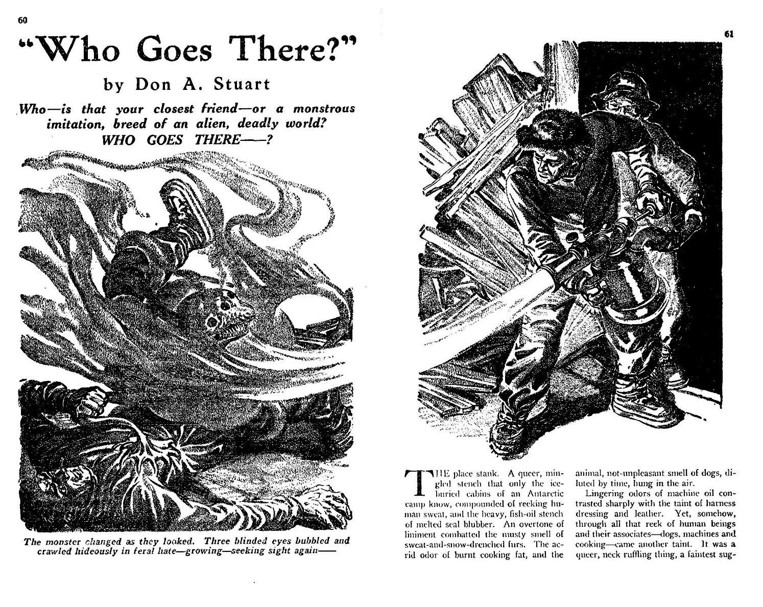 Who Goes there Astounding Magazine August 1938